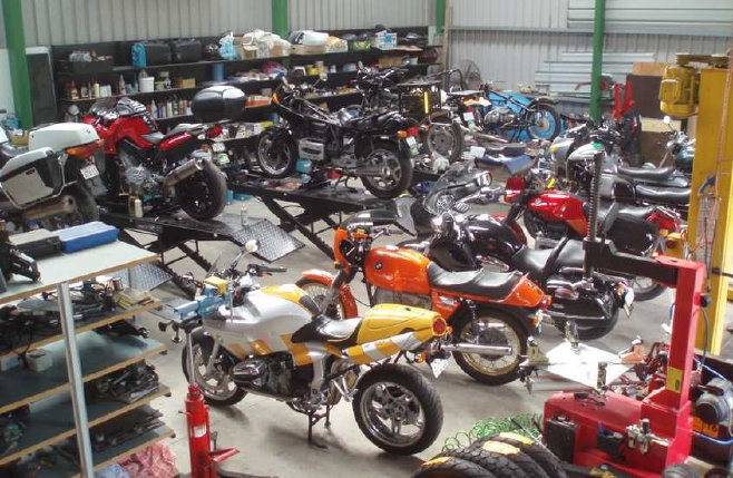 Tor Motors BMW motorcycle workshop