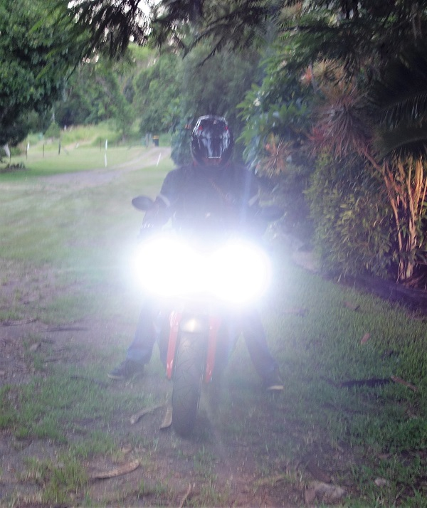 Brilliant LED motorcycle lights