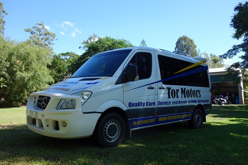 Tor Motors BMW motorcycle recovery van